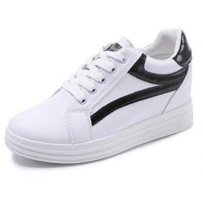 2018 New Sports Casual All-match Thick White Shoes