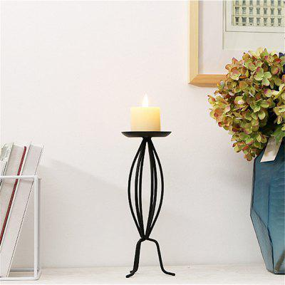 Classical European Style Iron Art Candlestick Table Decoration