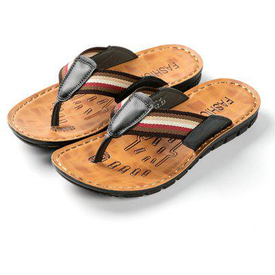 Young Mens Summer New Style Leather Leisure Flip FlopsMens Slippers<br>Young Mens Summer New Style Leather Leisure Flip Flops<br><br>Available Size: 41-44<br>Embellishment: None<br>Gender: For Men<br>Outsole Material: Rubber<br>Package Contents: 1 x shoes(pair)<br>Pattern Type: Solid<br>Season: Summer<br>Slipper Type: Outdoor<br>Style: Leisure<br>Upper Material: Cow Split<br>Weight: 1.7424kg