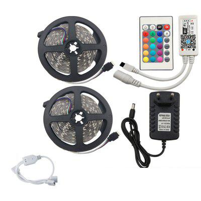 KWB 2 x 5M LED Strip Light RGB with WIFI Controller and 3A LED Power Supply