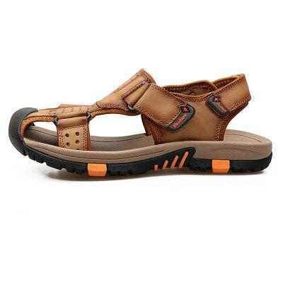 ZEACAVA Men Cow Leather Anti-collision Breathable Sole Hook Loop Casual SandalsMens Sandals<br>ZEACAVA Men Cow Leather Anti-collision Breathable Sole Hook Loop Casual Sandals<br><br>Available Size: 38-45<br>Closure Type: Hook / Loop<br>Embellishment: Hollow Out<br>Gender: For Men<br>Heel Hight: 2cm<br>Occasion: Casual<br>Outsole Material: PU<br>Package Contents: 1xShoes(Pair)<br>Pattern Type: Solid<br>Sandals Style: Slides<br>Style: Classics<br>Upper Material: Full Grain Leather<br>Weight: 1.2000kg