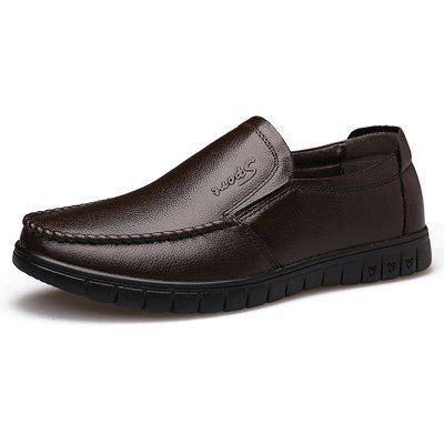 Men Casual Flat Driving Leather Slip On Loafers Shoes