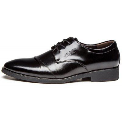 Simple Lace-up Formal Business Dress Shoes For MenFormal Shoes<br>Simple Lace-up Formal Business Dress Shoes For Men<br><br>Available Size: 39-45<br>Closure Type: Lace-Up<br>Embellishment: None<br>Gender: For Men<br>Occasion: Dress<br>Outsole Material: Rubber<br>Package Contents: 1 x Shoes (pair)<br>Pattern Type: Solid<br>Season: Spring/Fall<br>Toe Shape: Pointed Toe<br>Toe Style: Closed Toe<br>Upper Material: Genuine Leather<br>Weight: 1.2400kg