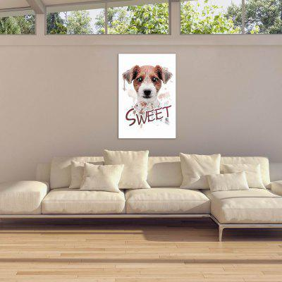 W026 Sweet Dog Unframed Wall Art Canvas Prints for Home DecorationPrints<br>W026 Sweet Dog Unframed Wall Art Canvas Prints for Home Decoration<br><br>Craft: Print<br>Form: One Panel<br>Material: Canvas<br>Package Contents: 1 x Print<br>Package size (L x W x H): 20.00 x 3.00 x 3.00 cm / 7.87 x 1.18 x 1.18 inches<br>Package weight: 0.0290 kg<br>Painting: Without Inner Frame<br>Product size (L x W x H): 20.00 x 30.00 x 1.00 cm / 7.87 x 11.81 x 0.39 inches<br>Product weight: 0.0260 kg<br>Shape: Vertical<br>Style: Artistic Style, Chic &amp; Modern, Animal<br>Subjects: Animal<br>Suitable Space: Living Room,Bathroom,Bedroom,Dining Room,Office,Hotel,Cafes,Kids Room,Kids Room,Study Room / Office,Boys Room