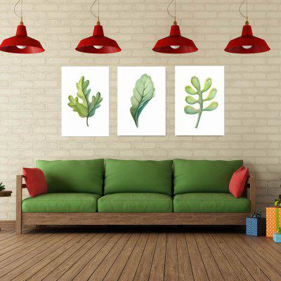 W039 Leaves Unframed Art Wall Canvas Prints for Home Decorations 3 PCSPrints<br>W039 Leaves Unframed Art Wall Canvas Prints for Home Decorations 3 PCS<br><br>Craft: Print<br>Form: Three Panels<br>Material: Canvas<br>Package Contents: 3 x Prints<br>Package size (L x W x H): 50.00 x 4.00 x 4.00 cm / 19.69 x 1.57 x 1.57 inches<br>Package weight: 0.3660 kg<br>Painting: Without Inner Frame<br>Product size (L x W x H): 50.00 x 75.00 x 3.00 cm / 19.69 x 29.53 x 1.18 inches<br>Product weight: 0.3600 kg<br>Shape: Vertical<br>Style: European Style, Artistic Style, Plant<br>Subjects: Botanical<br>Suitable Space: Living Room,Bedroom,Dining Room,Office,Hotel,Cafes,Study Room / Office