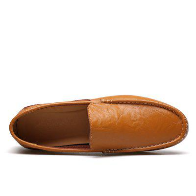 Male Outdoor Soft Driving Flat Loafers Leather Mens Casual ShoesFlats &amp; Loafers<br>Male Outdoor Soft Driving Flat Loafers Leather Mens Casual Shoes<br><br>Available Size: 38 39 40 41 42 43 44<br>Closure Type: Slip-On<br>Embellishment: None<br>Gender: For Men<br>Occasion: Casual<br>Outsole Material: Rubber<br>Package Contents: 1 x Shoes(pair)<br>Pattern Type: Solid<br>Season: Summer, Spring/Fall<br>Toe Shape: Round Toe<br>Toe Style: Closed Toe<br>Upper Material: Genuine Leather<br>Weight: 1.4784kg