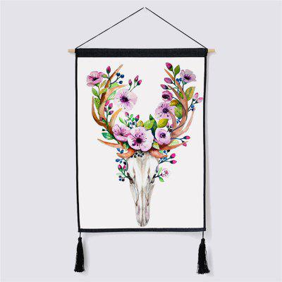Modern Style Deer Fabric Hanging Painting Wall Decor