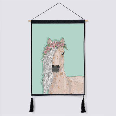 Creative Horse Fabric Hanging Painting for Wall Decor