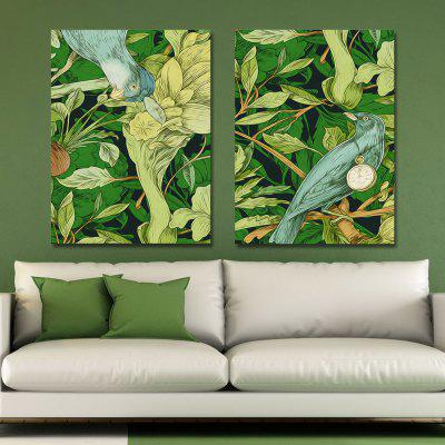 Buy MY43-CX 250-251 2PCS Bird Plant Flowers Print Art, MULTI, Home & Garden, Home Decors, Wall Art, Prints for $24.52 in GearBest store
