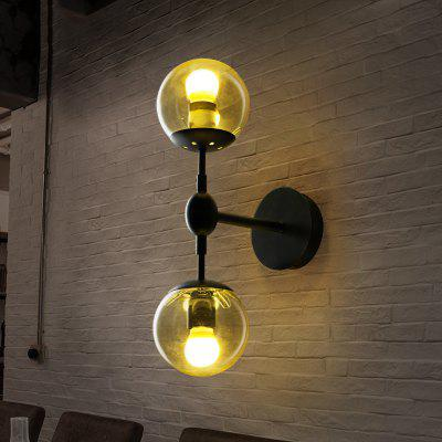Retro Glass Wall Lamps for House Bar Restaurants Coffee Shop Club Decoration