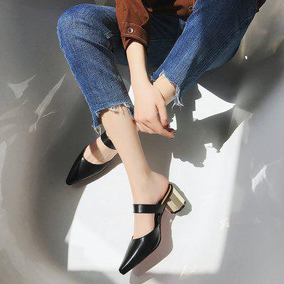 Trendy Metal and Cool SlippersSlippers &amp; Flip-Flops<br>Trendy Metal and Cool Slippers<br><br>Available Size: 35-39<br>Gender: For Women<br>Heel Type: Chunky Heel<br>Package Contents: 1xShoes (pair)<br>Pattern Type: Solid<br>Season: Summer<br>Slipper Type: Outdoor<br>Style: Leisure<br>Upper Material: PU<br>Weight: 0.6240kg