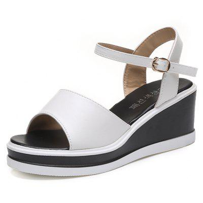 Waterproof All-match Simple Wedge Sandals