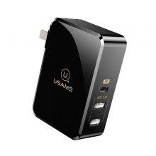 USAMS CC039 PD Fast Charge Type C Output and Wall Dual USB Ports Travel Charger