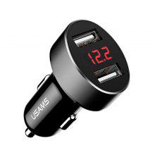 USAMS CC045 C1 Dual USB Ports Car Charger 2.1A Smart LED Display