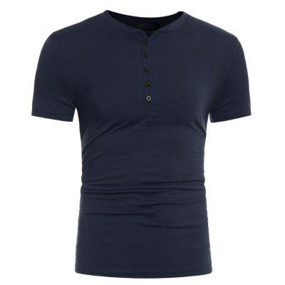 Mens Casual Slim Fit Short Sleeve Henley T-shirts Cotton ShirtsMens Short Sleeve Tees<br>Mens Casual Slim Fit Short Sleeve Henley T-shirts Cotton Shirts<br><br>Collar: V-Neck<br>Embellishment: Button<br>Fabric Type: Broadcloth<br>Material: Cotton, Cotton Blends<br>Package Contents: 1 x T-shirt<br>Pattern Type: Solid<br>Sleeve Length: Short<br>Style: Casual<br>Weight: 0.2000kg