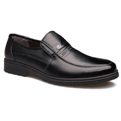 Casual Slip-on Business Leather Shoes for Middle-aged MenFormal Shoes<br>Casual Slip-on Business Leather Shoes for Middle-aged Men<br><br>Available Size: 39-44<br>Closure Type: Slip-On<br>Embellishment: None<br>Gender: For Men<br>Occasion: Dress<br>Outsole Material: Rubber<br>Package Contents: 1 x Shoes (pair)<br>Pattern Type: Solid<br>Season: Summer, Spring/Fall<br>Toe Shape: Round Toe<br>Toe Style: Closed Toe<br>Upper Material: Full Grain Leather<br>Weight: 1.3020kg