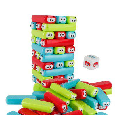 Cartoon Building Blocks Jenga Tower Baby Stacking  Interactive Educational Toy