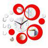 Modern Design 3D Mirrior Sticker DIY Home Decoration Self Adhesive Quartz Wall