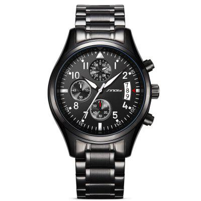 Image result for Sinobi 9639 Casual Business Multifunctional Waterproof Calendar Quartz Men Watch