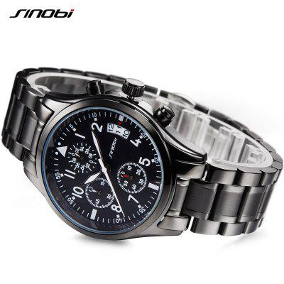 Sinobi 9639 Casual Business Multifunctional Waterproof Calendar Quartz Men WatchMens Watches<br>Sinobi 9639 Casual Business Multifunctional Waterproof Calendar Quartz Men Watch<br><br>Band material: Stainless Steel<br>Brand: Sinobi<br>Case material: Fine steel<br>Clasp type: Double buckle<br>Movement type: Quartz watch<br>Package Contents: 1 x Watch<br>Package size (L x W x H): 15.50 x 8.00 x 3.00 cm / 6.1 x 3.15 x 1.18 inches<br>Package weight: 0.1400 kg<br>Product size (L x W x H): 20.70 x 4.00 x 1.10 cm / 8.15 x 1.57 x 0.43 inches<br>Product weight: 0.1380 kg<br>Shape of the dial: Round<br>Special features: Luminous, Day<br>Watch mirror: Mineral glass<br>Watch style: Casual, Business<br>Watches categories: Men<br>Water resistance: 30 meters
