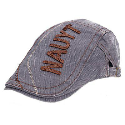 ZHAXIN NAUYT Letter Embroidery Old Vintage  Beret for Man