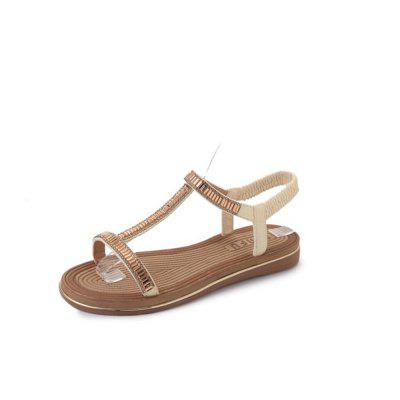 2018 New All-match Leisure Type T Toe Sandals Shoes