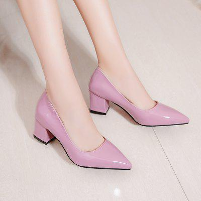 Womens Pointed Toe Pump Patent Leather Simple Design All Match Thick Heel ShoesWomens Pumps<br>Womens Pointed Toe Pump Patent Leather Simple Design All Match Thick Heel Shoes<br><br>Available Size: 33 34 35 36 37 38 39 40 41 42 43<br>Heel Height: 6<br>Heel Height Range: Med(1.75-2.75)<br>Heel Type: Chunky Heel<br>Insole Material: PU<br>Lining Material: PU<br>Occasion: Dress<br>Outsole Material: Rubber<br>Package Contents: 1x shoes(pair)<br>Pumps Type: Basic<br>Season: Summer, Winter, Spring/Fall<br>Shoe Width: Medium(B/M)<br>Toe Shape: Pointed Toe<br>Toe Style: Closed Toe<br>Upper Material: Patent Leather<br>Weight: 3.3792kg