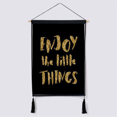 Enjoy the Little Things Fabric Hanging Paintings