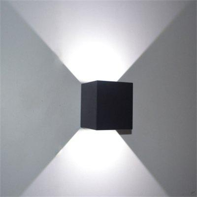 Adjustable Angle Up And Down Light Waterproof 6W Indoor And Outdoor Wall Lamp