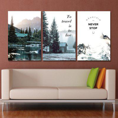 MY43-XDZS - 230-231-232 3PCS Snow Scene in The Mountain Hut Print ArtPrints<br>MY43-XDZS - 230-231-232 3PCS Snow Scene in The Mountain Hut Print Art<br><br>Brand: DYC<br>Craft: Print<br>Form: Three Panels<br>Material: Canvas<br>Package Contents: 3 x Prints<br>Package size (L x W x H): 45.00 x 6.00 x 6.00 cm / 17.72 x 2.36 x 2.36 inches<br>Package weight: 0.4500 kg<br>Painting: Without Inner Frame<br>Product size (L x W x H): 40.00 x 60.00 x 3.00 cm / 15.75 x 23.62 x 1.18 inches<br>Product weight: 0.3300 kg<br>Shape: Vertical<br>Style: Scenic, Plant<br>Subjects: Landscape<br>Suitable Space: Garden,Living Room,Office,Hotel,Study Room / Office,Game Room
