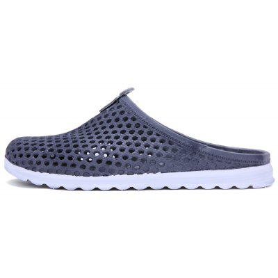 Summer Flat Non-Slip Header Half Hole ShoesMens Slippers<br>Summer Flat Non-Slip Header Half Hole Shoes<br><br>Available Size: 40-45<br>Embellishment: Hollow Out<br>Gender: For Men<br>Outsole Material: PU<br>Package Contents: 1xshoes?pair?<br>Pattern Type: Solid<br>Season: Summer<br>Slipper Type: Outdoor<br>Style: Leisure<br>Upper Material: PU<br>Weight: 1.2000kg