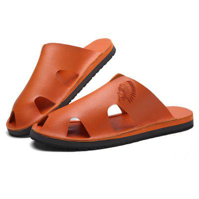 Men Slippers Beach Summer Breathable Sandals Shoes Leisure Flats SneakersMens Slippers<br>Men Slippers Beach Summer Breathable Sandals Shoes Leisure Flats Sneakers<br><br>Available Size: 39-44<br>Closure Type: Buckle Strap<br>Embellishment: None<br>Gender: For Men<br>Heel Hight: 1-2<br>Occasion: Casual<br>Outsole Material: Rubber<br>Package Contents: 1?Shoes(pair)<br>Pattern Type: Solid<br>Sandals Style: Flip Flops<br>Style: Fashion<br>Upper Material: Leather<br>Weight: 1.2000kg