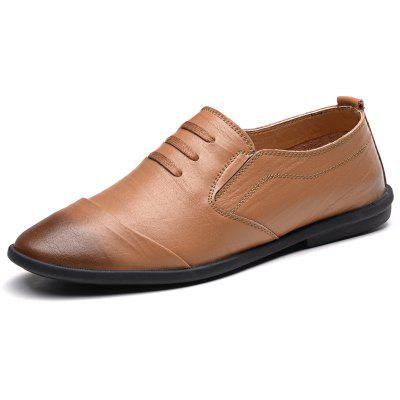 Men Leather Business Summer Breathable British Shoes Leisure FlatsSneakers