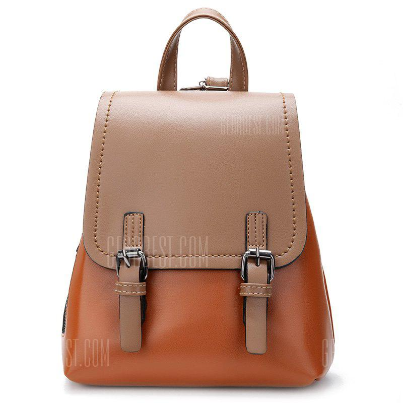 Simple Contrast Color Fashion Backpack