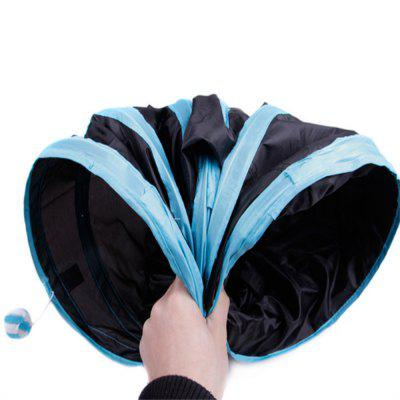 Cat Three Way Foldable Tunnel Smart Cat Toy Drill BarrelCat Toys<br>Cat Three Way Foldable Tunnel Smart Cat Toy Drill Barrel<br><br>Color: Assorted Colors<br>For: Cats<br>Material: Polyester<br>Package Contents: 1 x Cat Toy<br>Package size (L x W x H): 27.00 x 27.00 x 7.00 cm / 10.63 x 10.63 x 2.76 inches<br>Package weight: 0.3800 kg<br>Product size (L x W x H): 80.00 x 25.00 x 30.00 cm / 31.5 x 9.84 x 11.81 inches<br>Product weight: 0.3400 kg<br>Season: All seasons<br>Type: Cat Toys