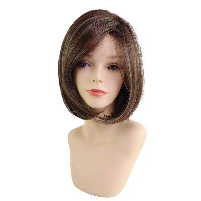 New Fashion Bob Style Straight Brown Hair Very Popular Synthetic Wig 2016 new style hot sale new style synthetic wigs short straight hair wig for women glamorous fashion free shipping