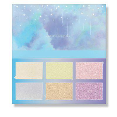 Aurora Glow Kit Palette Shimmer Highlighter Wet Soft Powder Cream