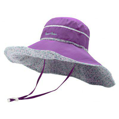 Vepeal Ladies' Fashionable Ultra Thin and Light Fold Wide-brimmed Hat
