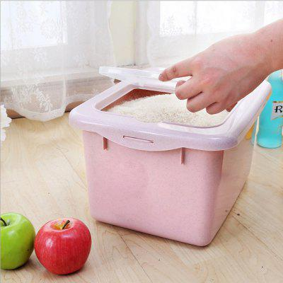 Clamshell Multipurpose Rice BucketStorage Boxes &amp; Bins<br>Clamshell Multipurpose Rice Bucket<br><br>Functions: Home<br>Materials: PP<br>Package Contents: 1 x Rice Bucket<br>Package Size(L x W x H): 34.50 x 26.50 x 20.00 cm / 13.58 x 10.43 x 7.87 inches<br>Package weight: 0.5100 kg<br>Product Size(L x W x H): 34.00 x 26.00 x 19.50 cm / 13.39 x 10.24 x 7.68 inches<br>Product weight: 0.5000 kg<br>Types: Storage Boxes and Bins