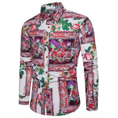 2018 Spring and Autumn New Men's Long Sleeve Shirt