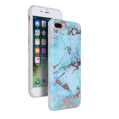 Rose Gold Marble Pattern Slim Fit Flexible TPU Cover for iPhone 7 Plus / 8 Plus