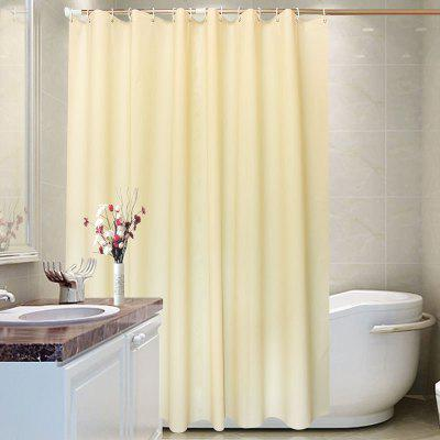 Simple Style Solid Color Waterproof Shower Curtain