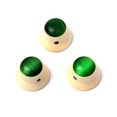 Green Abalone Push on Guitar Knobs Electric Bass Potentiometer Cap 3pcs