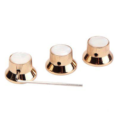 Escudo de Metal Metal Bell Guitar Bass Knob para 6mm Split Shaft 3pcs