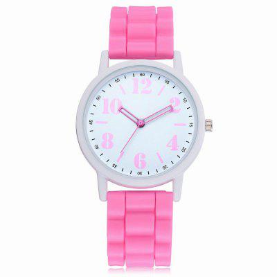 XR2599 Women Fashion Dial Analog Quartz Silica Gel Band Watch