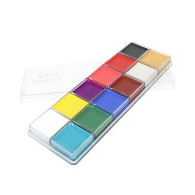 12 Colors Flash Tattoo Face Body Paint Oil Painting Art