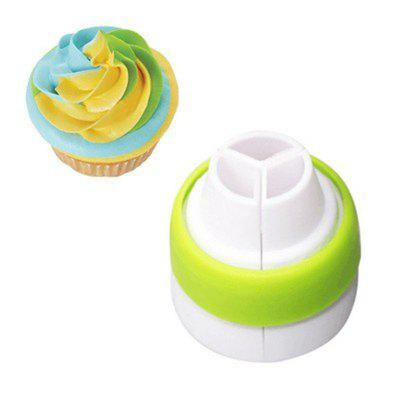 Buy Three Color Conversion Cream Cake with A Mouthpiece, GREEN APPLE, Home & Garden, Kitchen & Dining, Bakeware, Cake Molds for $4.28 in GearBest store