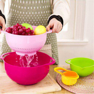 Creative Flour Sifting Suit Baked Rainbow Measuring Cup Set