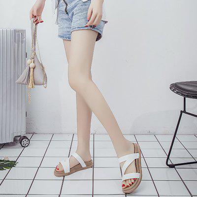 LadyS Flat Bottomed Sandals and SlippersSlippers &amp; Flip-Flops<br>LadyS Flat Bottomed Sandals and Slippers<br><br>Available Size: 36-40<br>Gender: For Women<br>Heel Type: Flat Heel<br>Package Contents: 1xShoes(pair)<br>Pattern Type: Others<br>Season: Summer<br>Slipper Type: Outdoor<br>Style: Sexy<br>Upper Material: PU<br>Weight: 1.2600kg