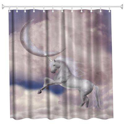 Dream Unicorn Water-Proof Polyester 3D Printing Bathroom Shower Curtain